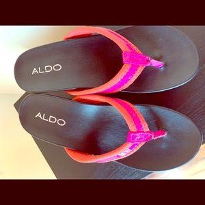 Aldo high flip flops